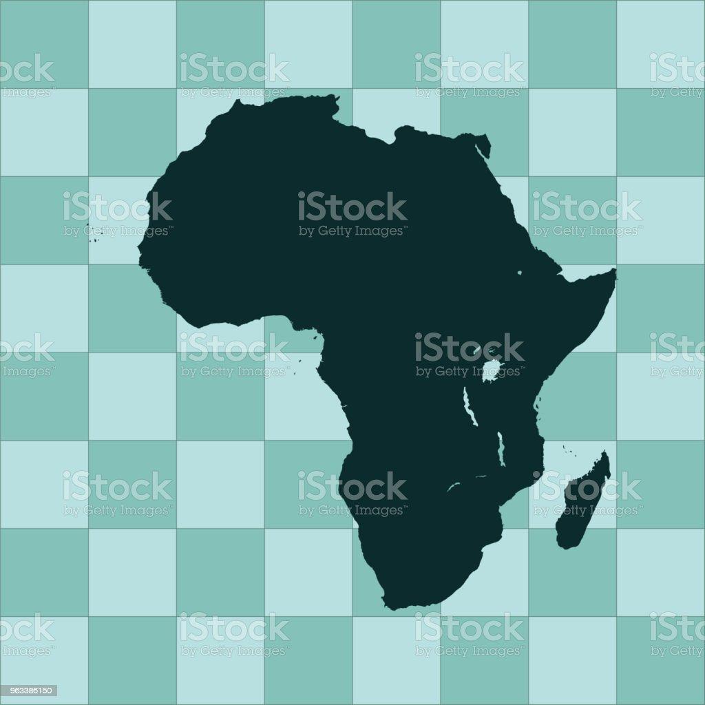 Africa map - Grafika wektorowa royalty-free (Abstrakcja)