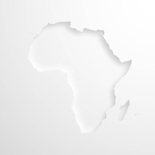 ilustrações de stock, clip art, desenhos animados e ícones de africa map with embossed paper effect on blank background - cabo verde
