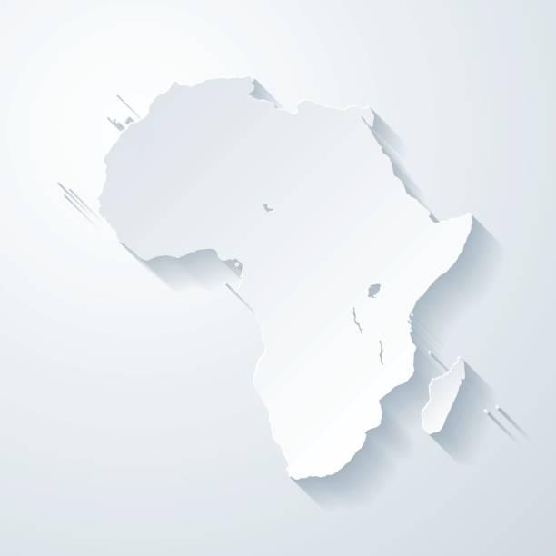 非洲地圖用紙切空白背景的影響 - africa 幅插畫檔、美工圖案、卡通及圖標