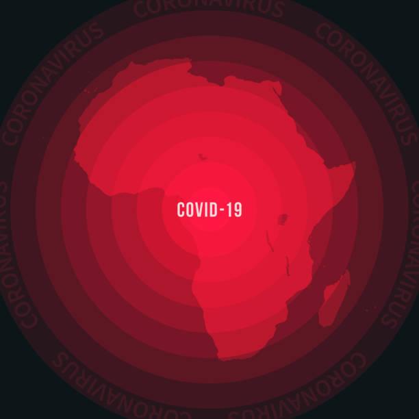 ilustrações de stock, clip art, desenhos animados e ícones de africa map with the spread of covid-19. coronavirus outbreak - cabo verde
