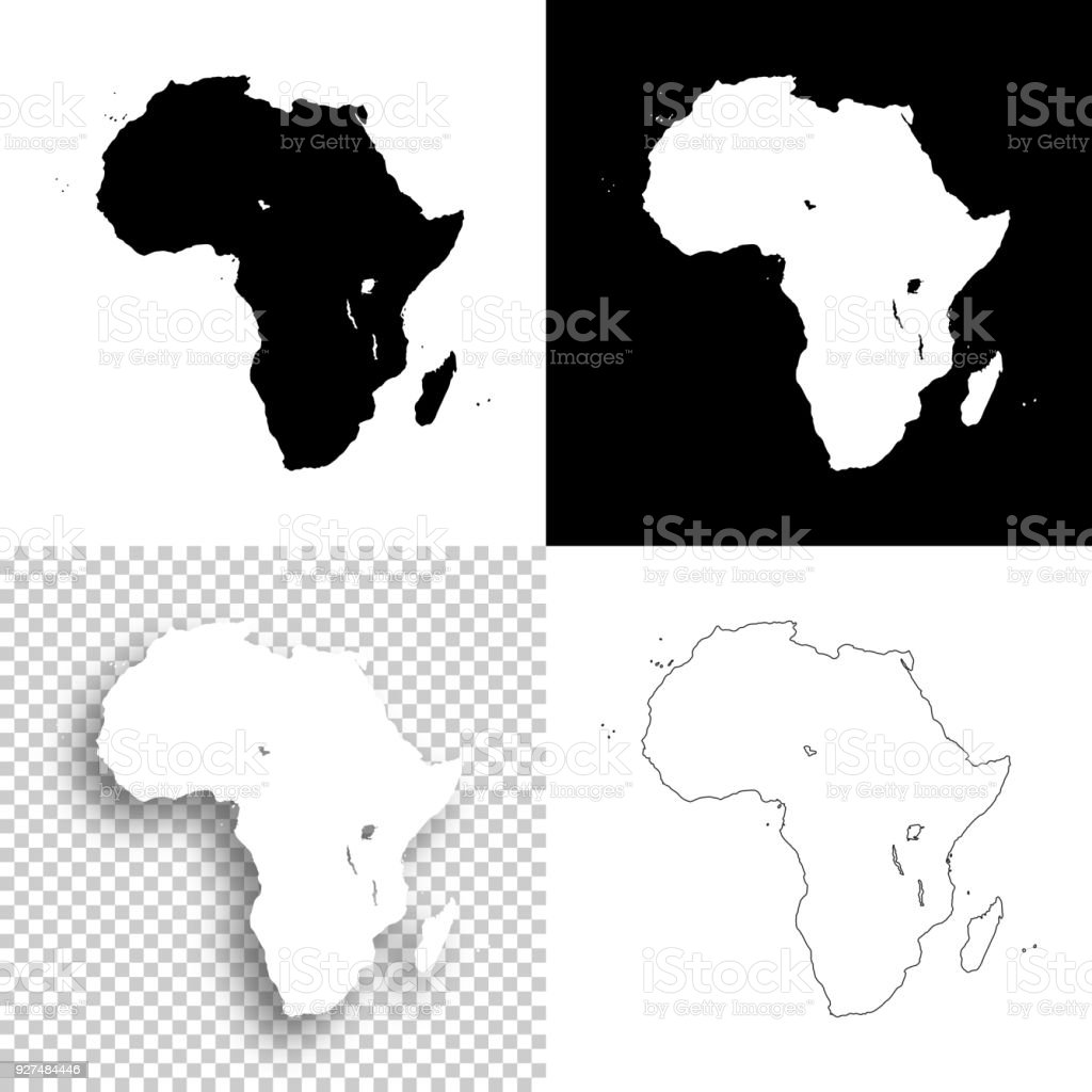Africa Maps For Design   Blank, White And Black Backgrounds Royalty Free Africa  Maps