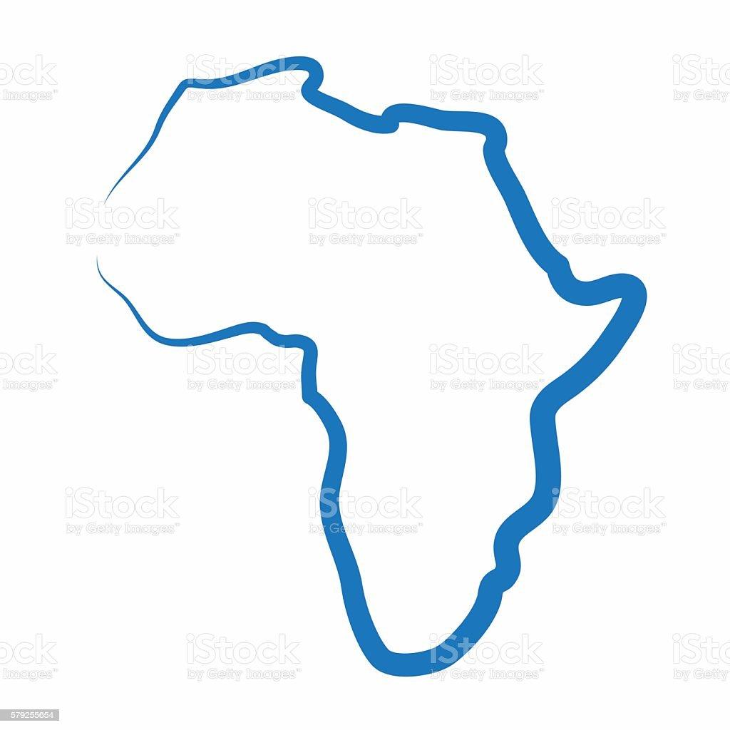 Africa outline map made from a single line – Vektorgrafik