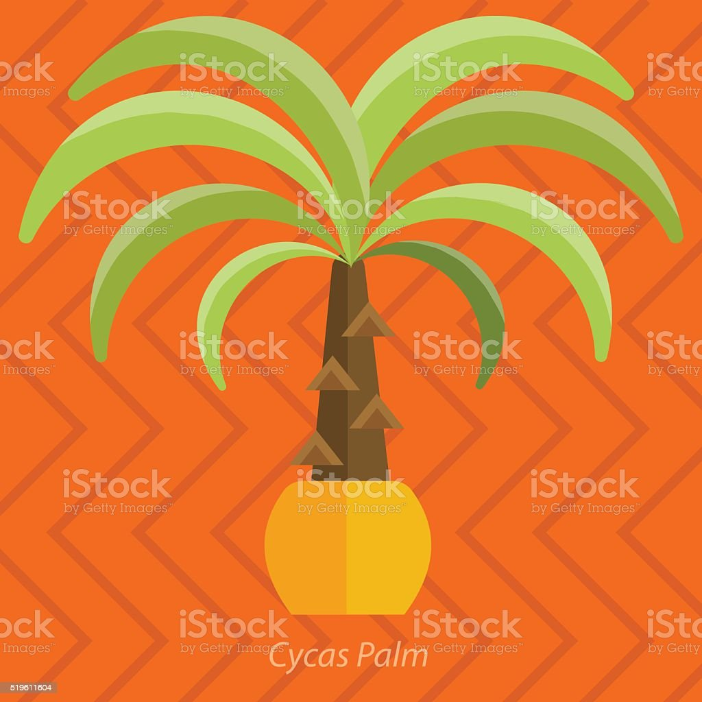 Ilustración de Plantas De África Árboles De Palma Flores Y Hierba ...