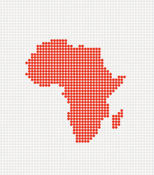 Africa Pop Map ( Vector ) Abstract pop map. Made with circles. Grouped for easy color change. svg stock illustrations