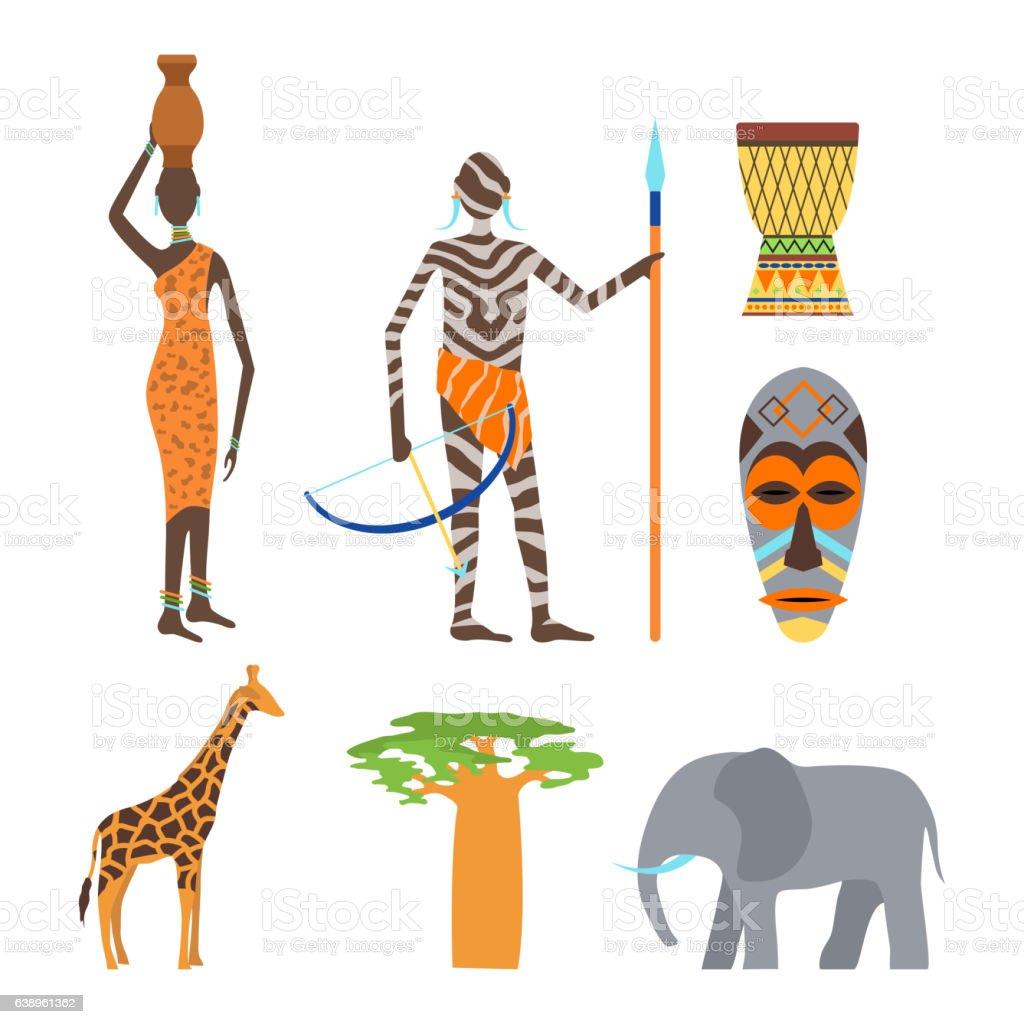 Africa Symbols And Travel Vector Set Stock Vector Art 638961362 Istock