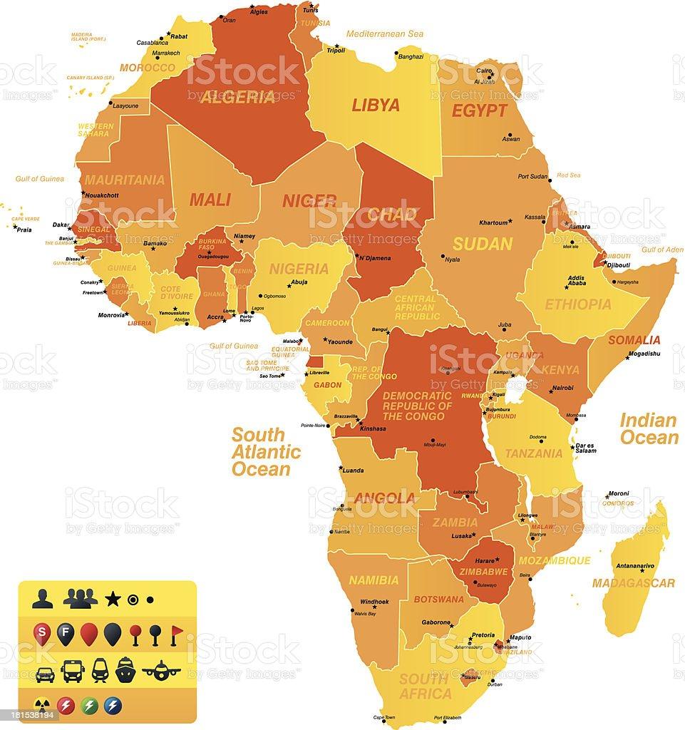 Africa royalty-free stock vector art