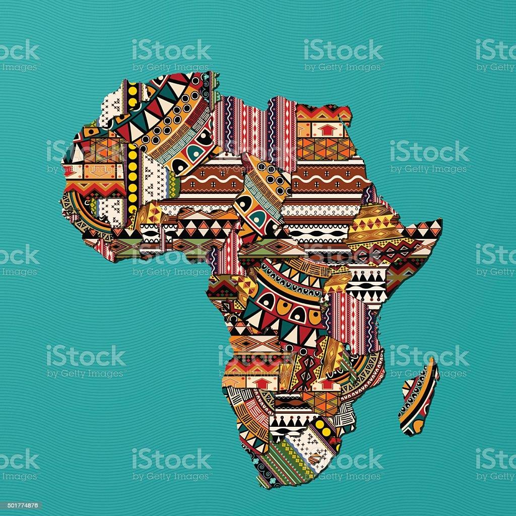 A África - ilustração de arte em vetor
