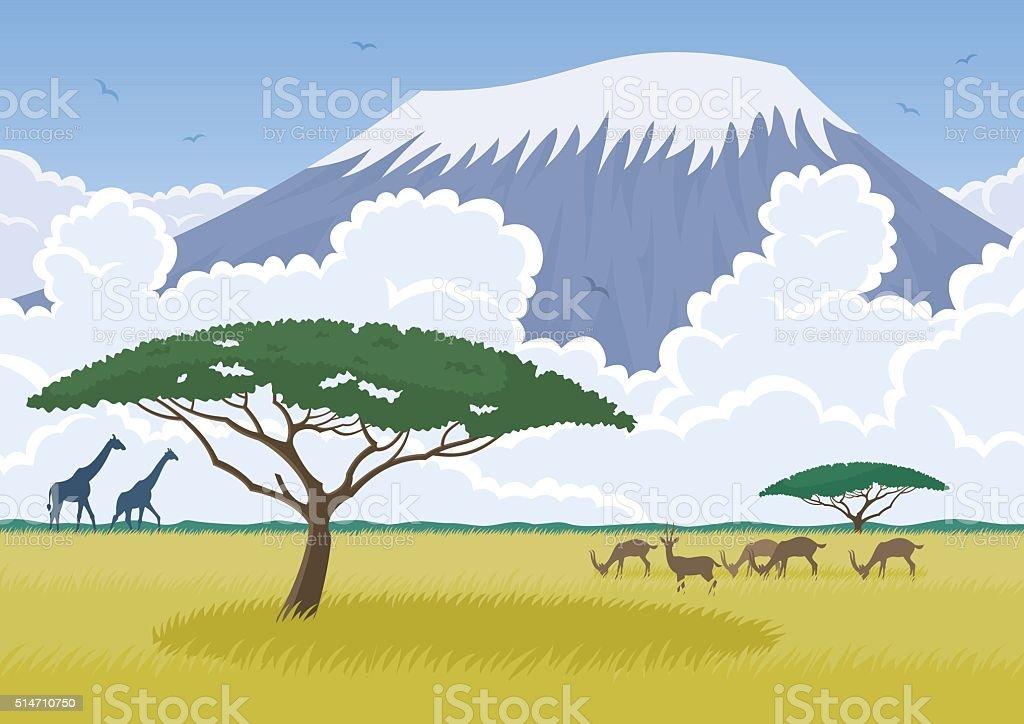 Africa vector art illustration
