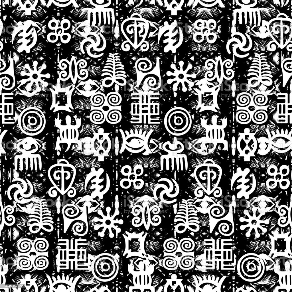 african adinkra pattern stock vector art more images of africa