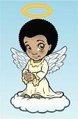 Great illustration of an African American angel. Perfect for Christmas. EPS and JPEG files included. Be sure to view my other illustrations, thanks!