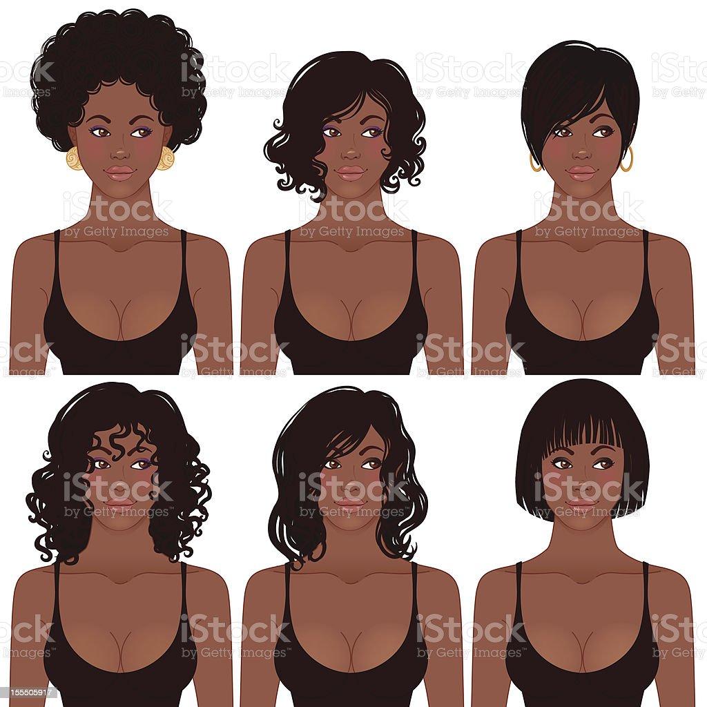 Schwarze Frisur