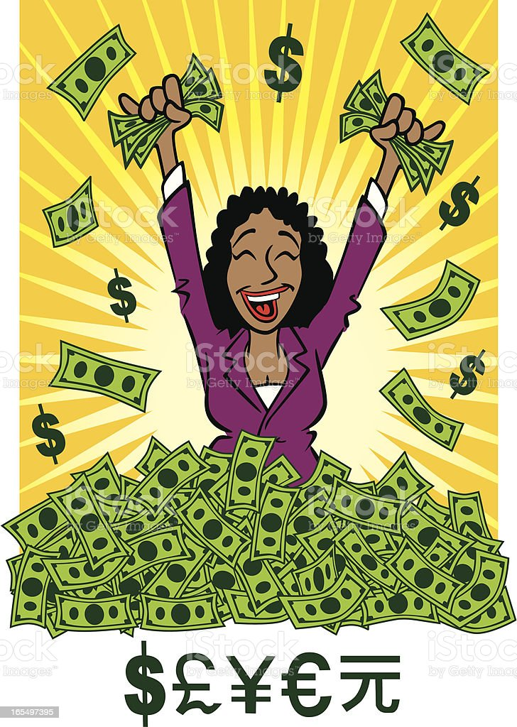 African American Business Woman royalty-free stock vector art