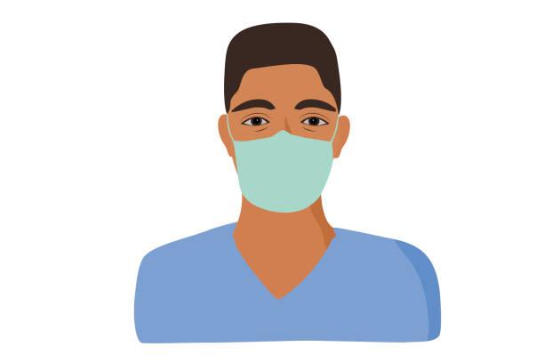 illustrations, cliparts, dessins animés et icônes de étudiant en médecine d'homme d'ethnicité afro-américain - infirmier