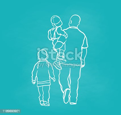 istock African American Father And Kids Chalkboard 1189693921
