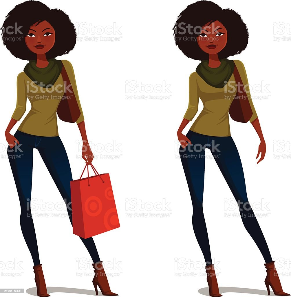 royalty free african american shopping clip art vector images rh istockphoto com african american woman clipart images african american woman clipart free