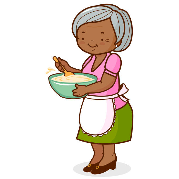 Royalty Free Grandmother Cooking Clip Art, Vector Images ...