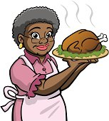 Great illustration of an African American granny holding turkey. Perfect for use in a Thanksgiving illustration. EPS and JPEG files included. Be sure to view my other illustrations, thanks!