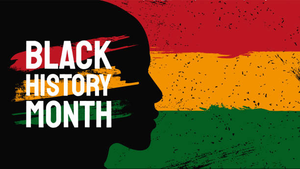 African American History or Black History Month. Celebrated annually in February in the USA and Canada African American History or Black History Month. Celebrated annually in February in the USA and Canada black history month stock illustrations