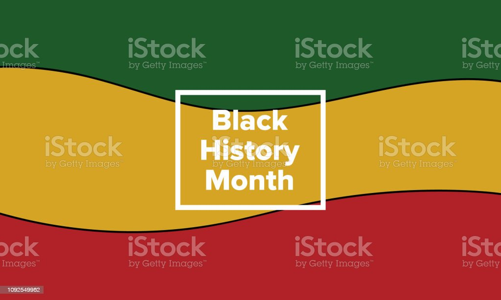 African American History or Black History Month vector art illustration