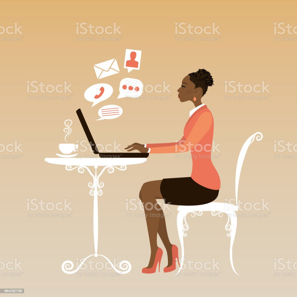african american Office worker or business woman. royalty-free african american office worker or business woman stock vector art & more images of adult