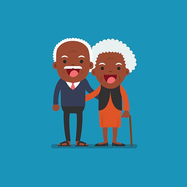 Best Black Elderly Couple Illustrations, Royalty-Free ...