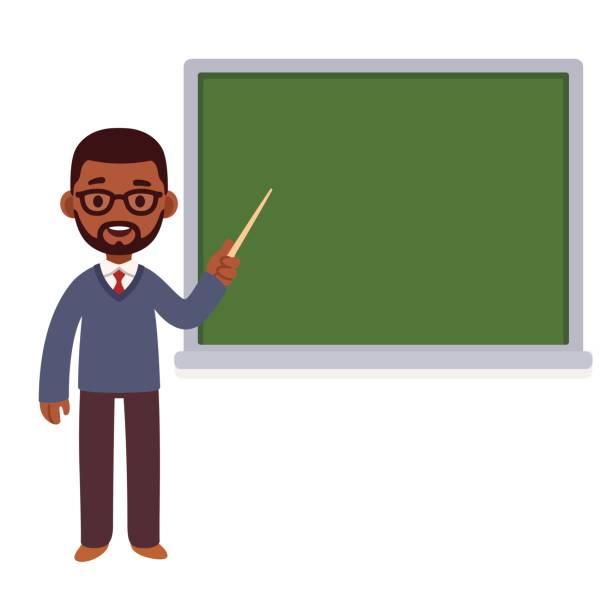ilustrações, clipart, desenhos animados e ícones de professor americano africano - teacher