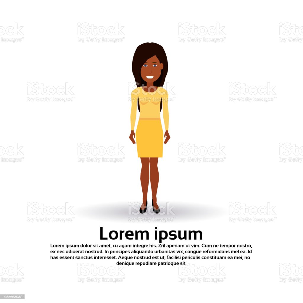 African American Woman Character Female Template For Design