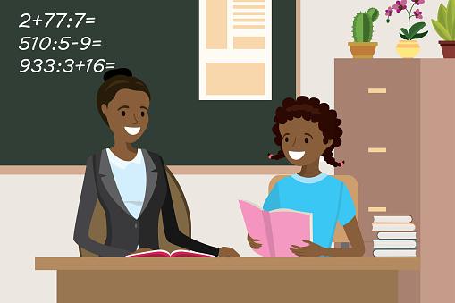 Middle school teacher stock illustrations