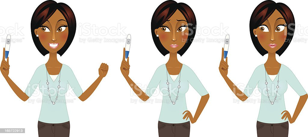 African American woman with pregnancy test royalty-free african american woman with pregnancy test stock vector art & more images of adult