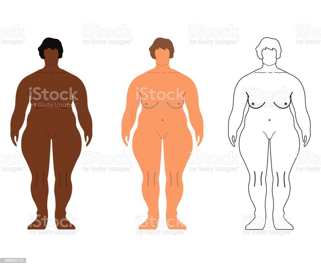 Afrikanische Und Europäische Frauen Cartoon Umrissstil Menschlichen ...