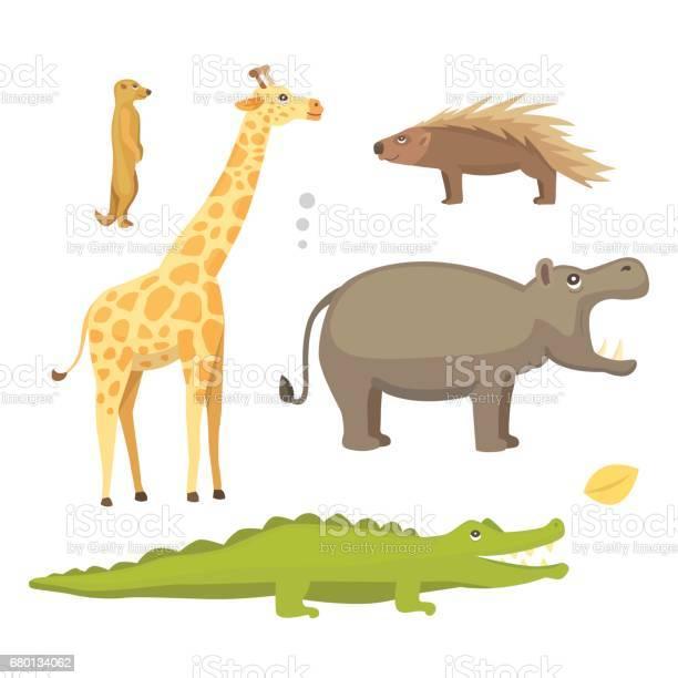African animals cartoon vector set safari isolated illustration vector id680134062?b=1&k=6&m=680134062&s=612x612&h=w8ii7gs1fsgmxqzlmuzmoadzuumxxlwh0kn g jgofq=