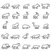 African Animals Icon Set