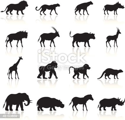 African Animals Icon Set. High Resolution JPG,CS5 AI and Illustrator EPS 8 included. Each element is named,grouped and layered separately.