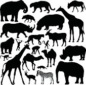 A collection of highly-detailed African animals.