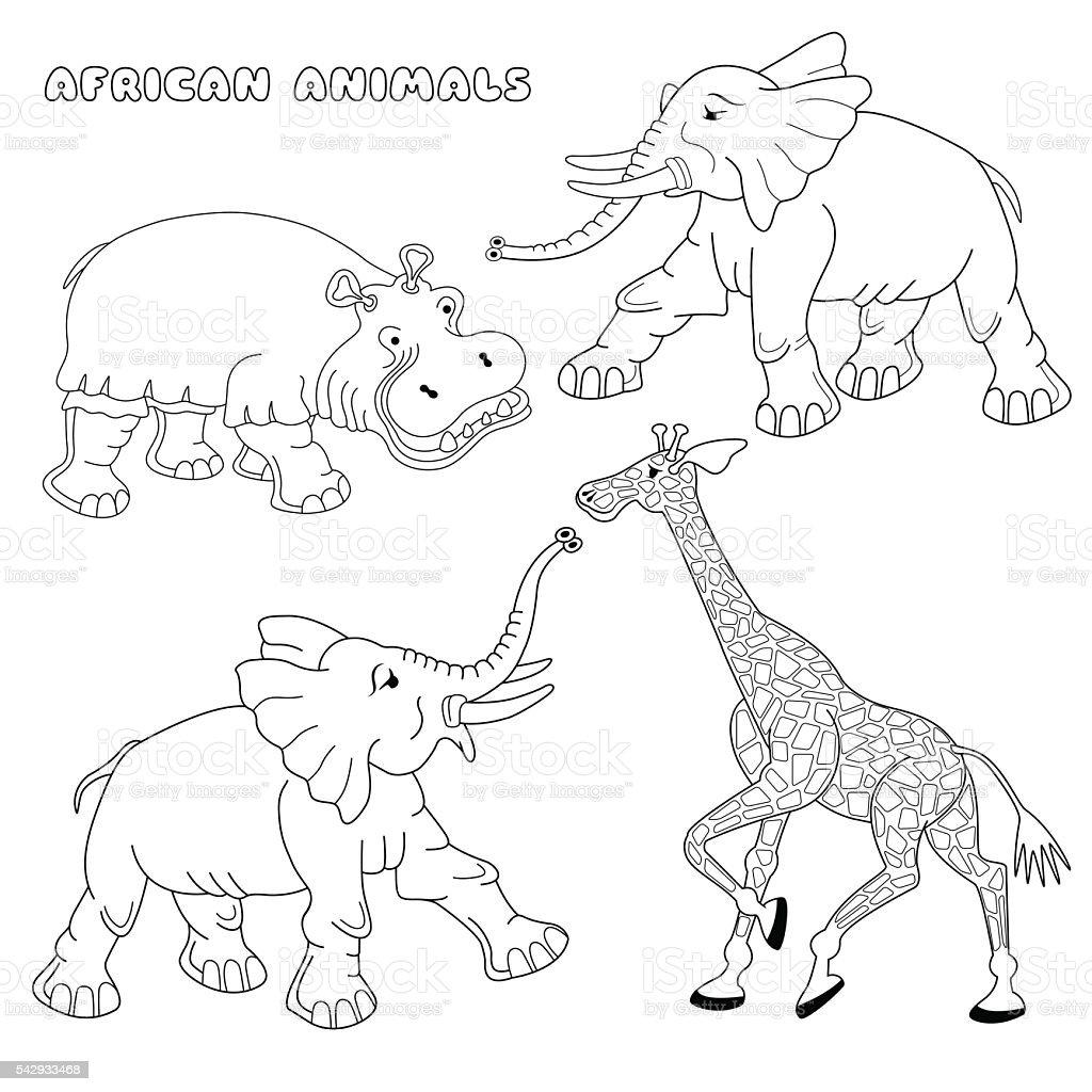 afrikanische tiere ausmalbilder afrika