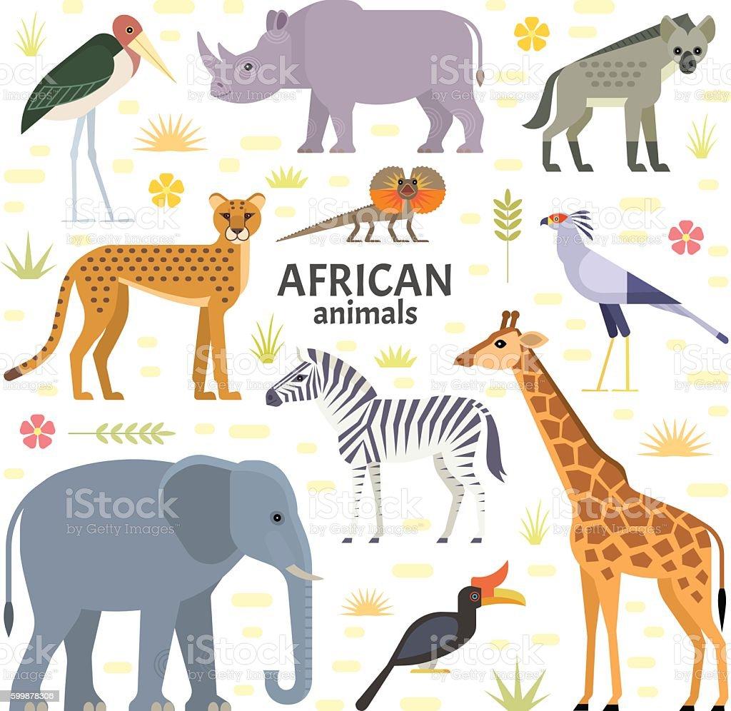 アフリカの動物 ベクターアートイラスト