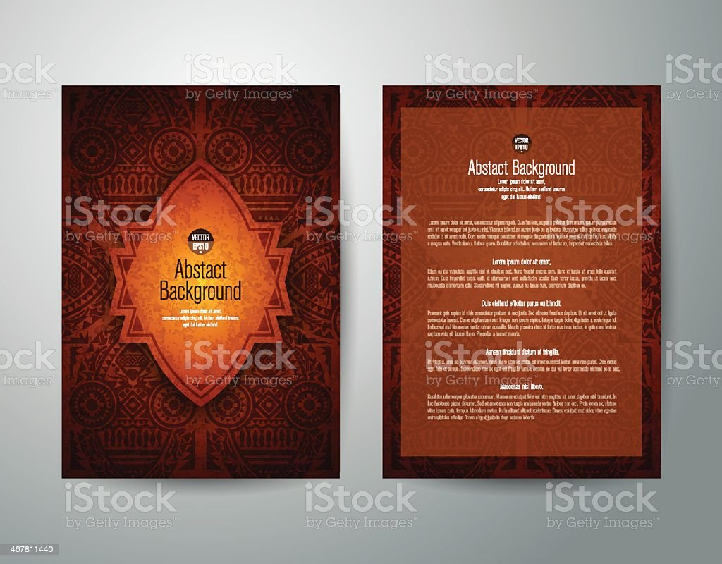 African art brochure flyer design vector. vector art illustration