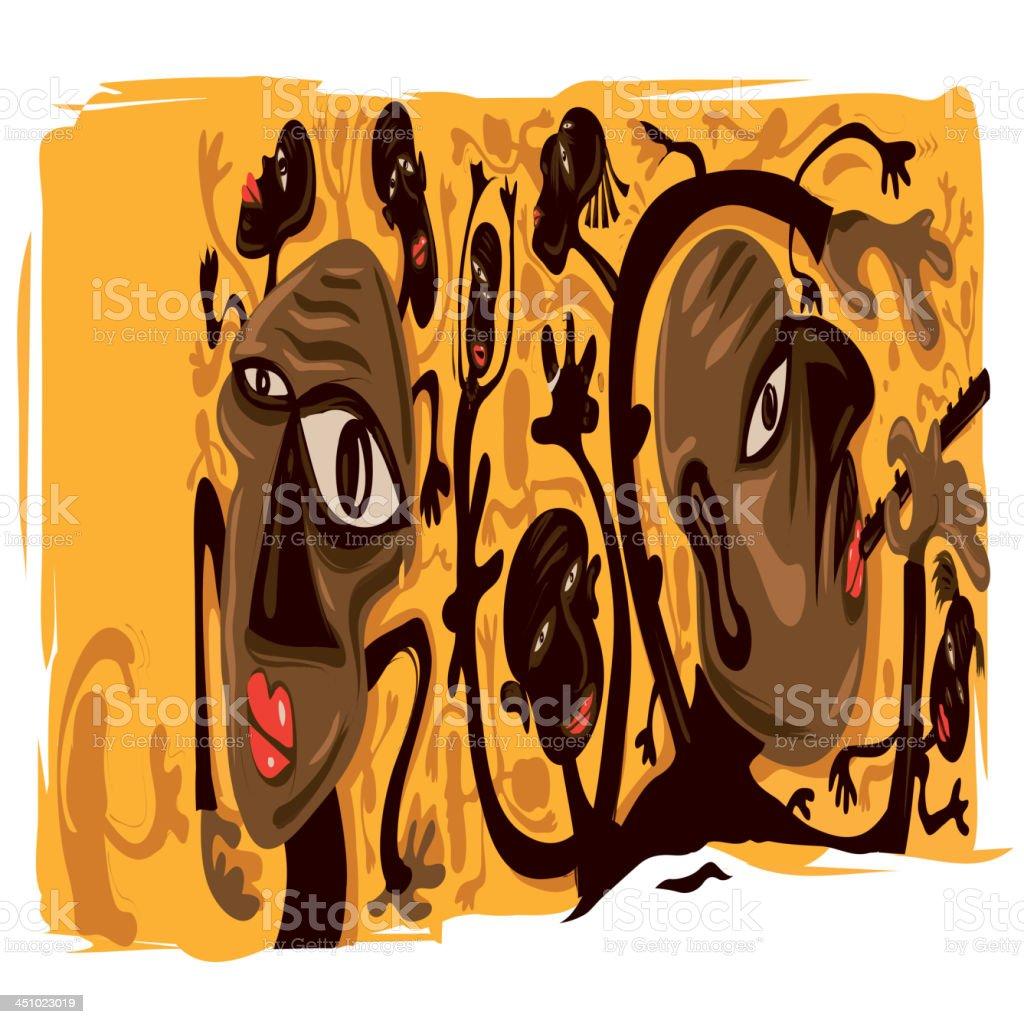 African art vector art illustration