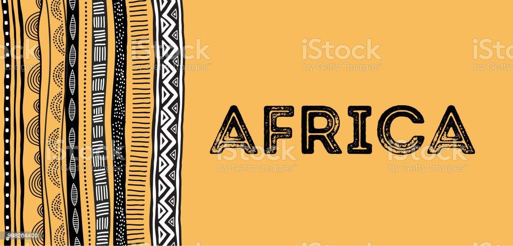 Origine africaine, flyer avec motif tribal traditionnel grunge - Illustration vectorielle