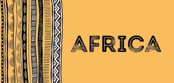 African Background Flyer With Tribal Traditional Grunge Pattern Stock Illustration - Download Image Now