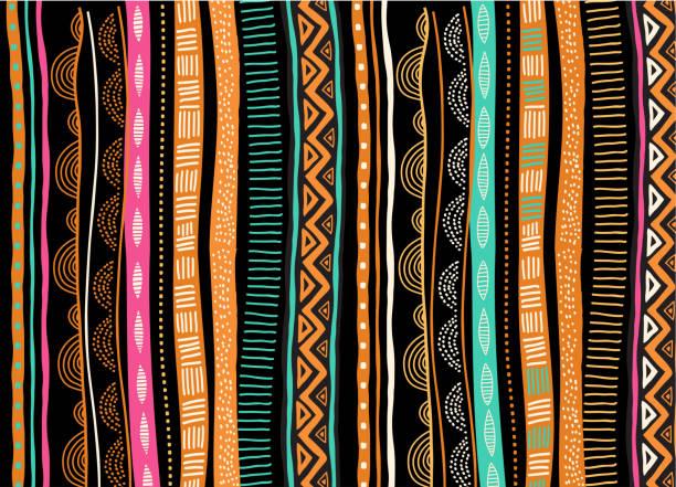bildbanksillustrationer, clip art samt tecknat material och ikoner med afrikansk bakgrund, flyer med tribal traditionella mönster. begreppet design - south africa