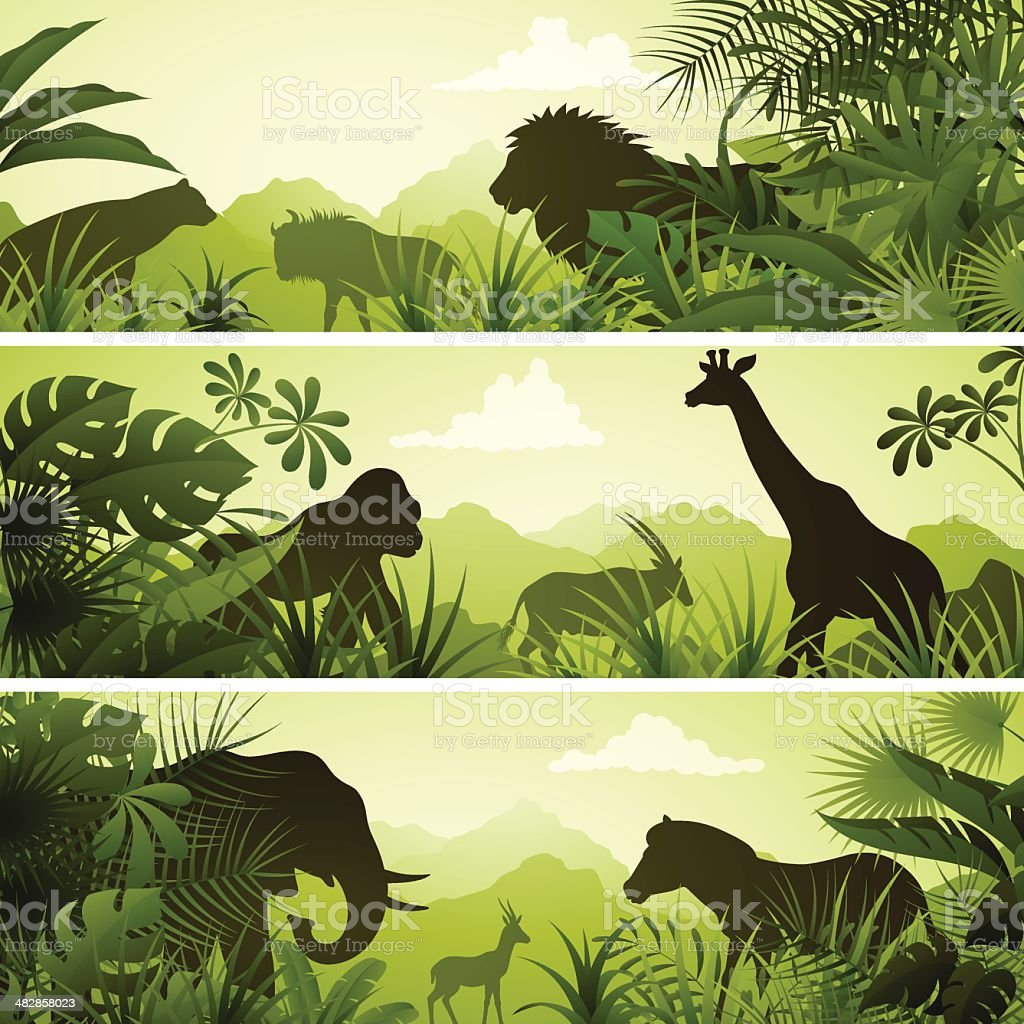 African Banners vector art illustration