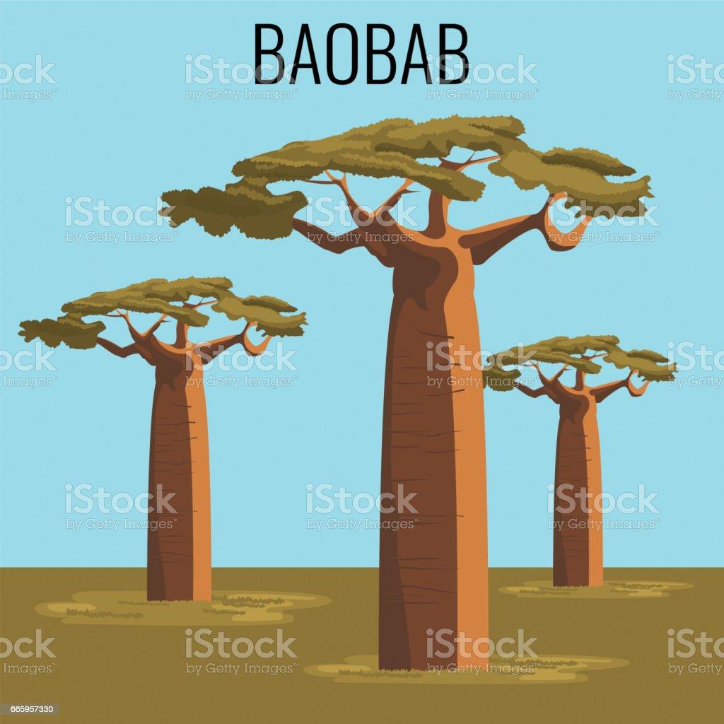 Baobab africain arbre ic ne embl matique cliparts vectoriels et plus d 39 images de abstrait - Arbre africain en 7 lettres ...