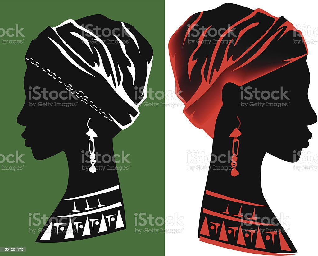 african beauty vector art illustration