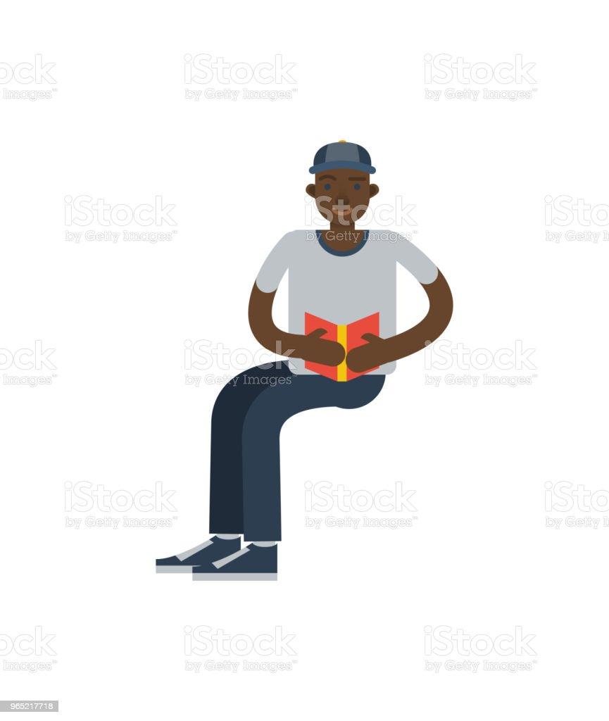 African boy reading book icon african boy reading book icon - stockowe grafiki wektorowe i więcej obrazów afrykanin royalty-free