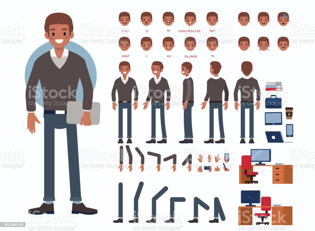 african business man vector art illustration