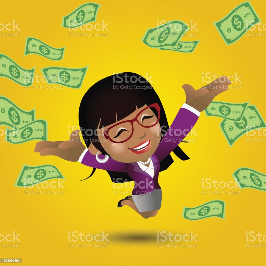African businesswoman set vector art illustration