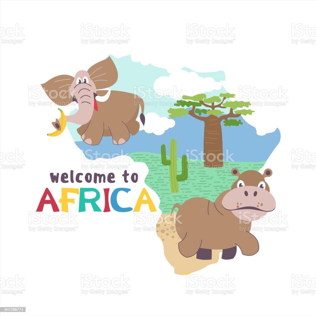 African Cartoon Animals Stock Illustration Download Image Now Istock Horizontal wild animals in african sunset vector. https www istockphoto com vector african cartoon animals gm941288774 257278882