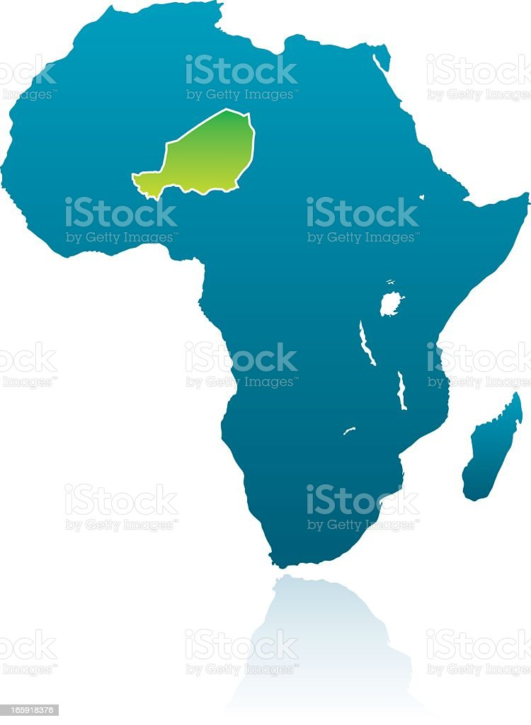 African Countries: Niger royalty-free stock vector art