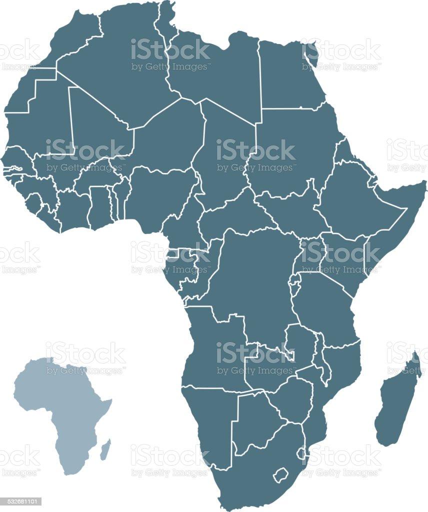 Os países africanos - ilustração de arte em vetor